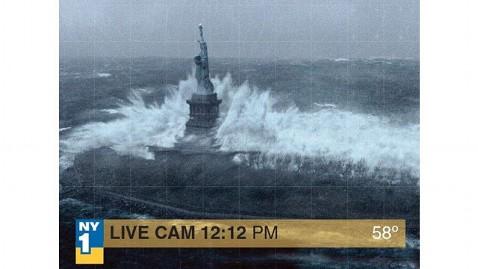 A fake photo on Hurricane Sandy taking on Lady Libert