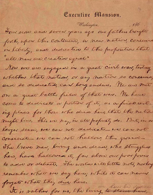 The Gettysburg Address, 149 years later