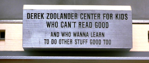 Nameplate for center for kids who can't read good